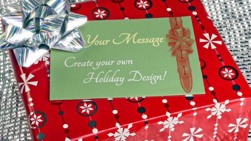 This Presentation Clipart shows a preview of Glittering Present Custom