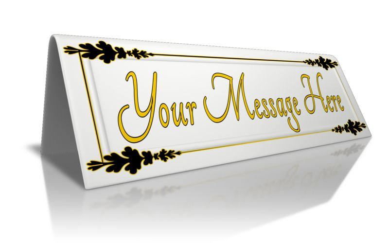 This Presentation Clipart shows a preview of Custom Beveled Card