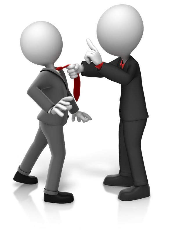 Clipart - Grabbing Worker By Tie