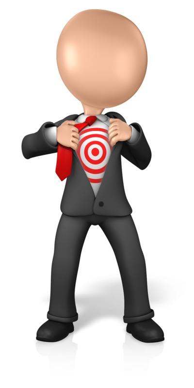 Clipart - Figure Open Chest Target