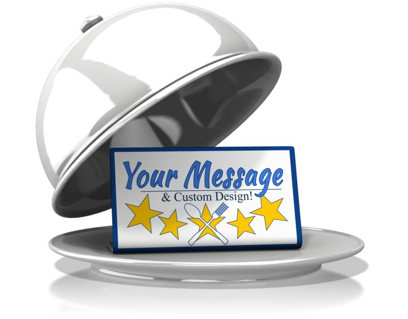 This Presentation Clipart shows a preview of Silver Platter Custom Message