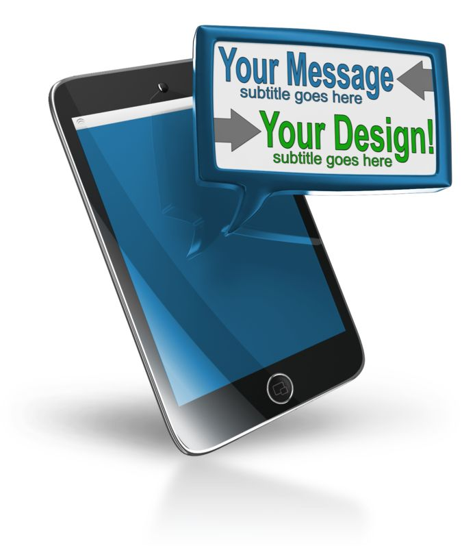 This Presentation Clipart shows a preview of Smart Phone Custom Text Block