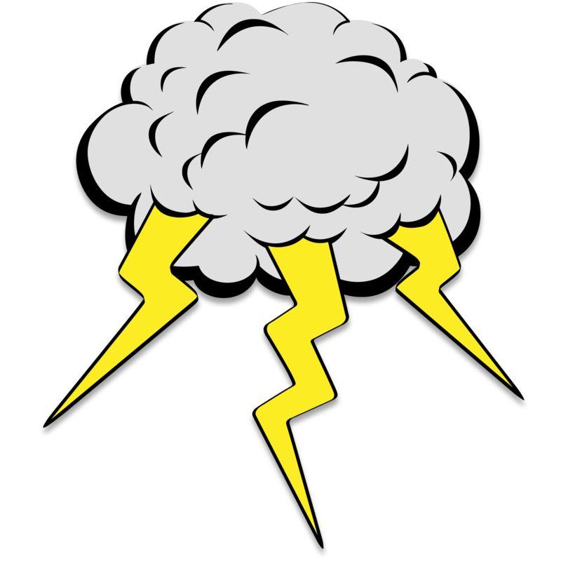 Clipart - Lightning Cloud