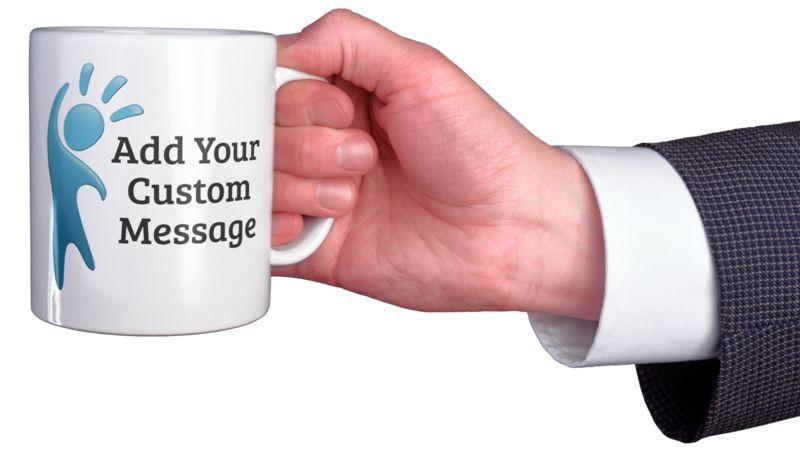 This Presentation Clipart shows a preview of Business Coffee Mug Custom