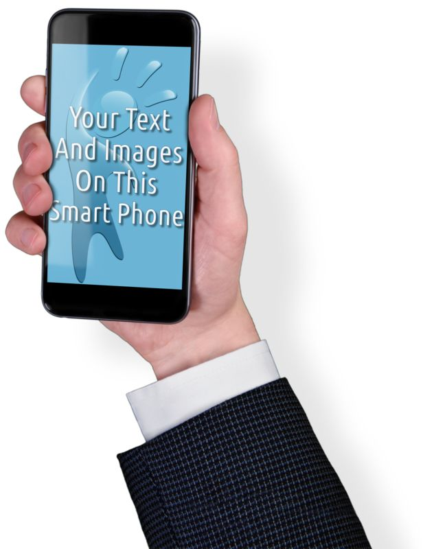 This Presentation Clipart shows a preview of Smart Phone Business Custom