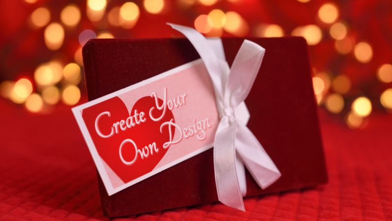 This Presentation Clipart shows a preview of Valentine Gift Custom