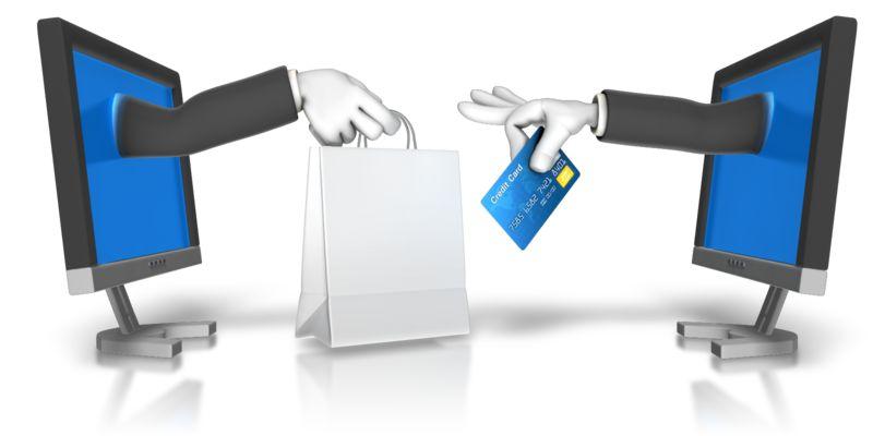 Clipart - Online Shopping Transaction