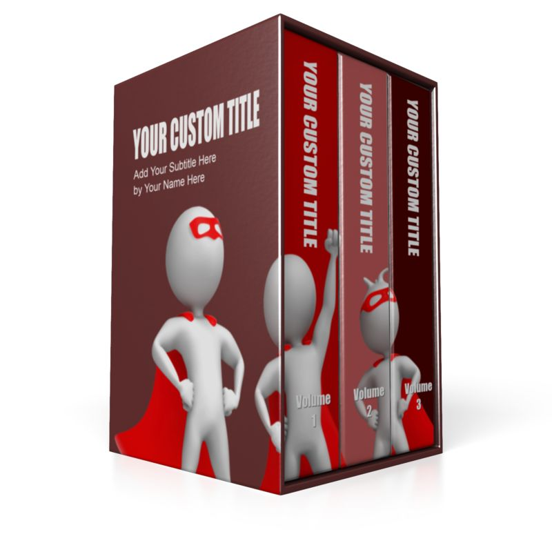 This Presentation Clipart shows a preview of Three Volume Set