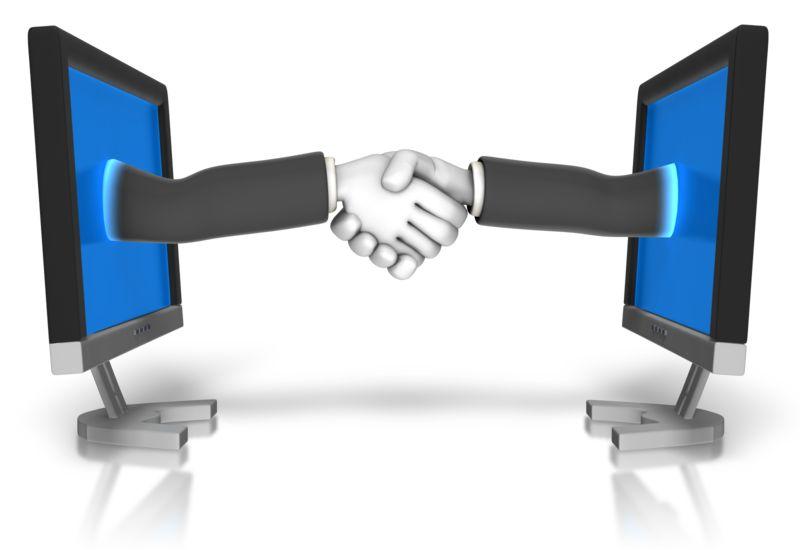 Clipart - Business Meeting Online