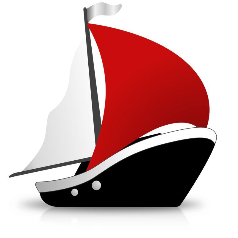 Clipart - Simple Ship Sailing