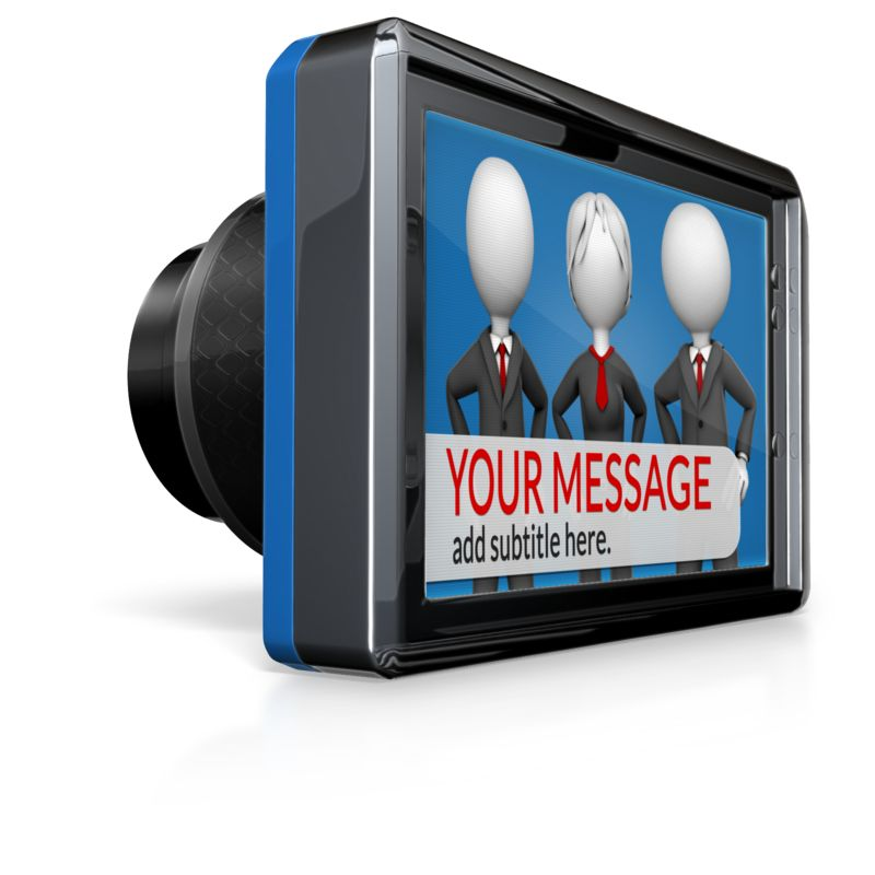 This Presentation Clipart shows a preview of Custom Camera Screen