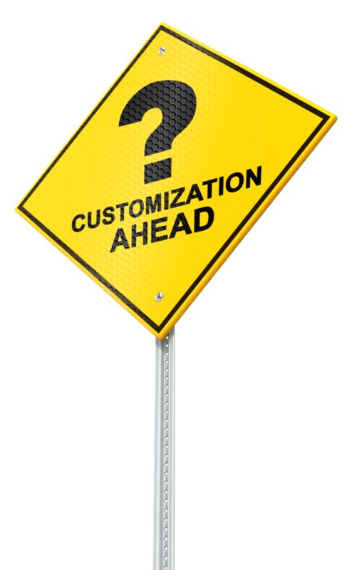 A standard caution road sign at a perspective angle. Customize the face of this sign using our on-line tools.