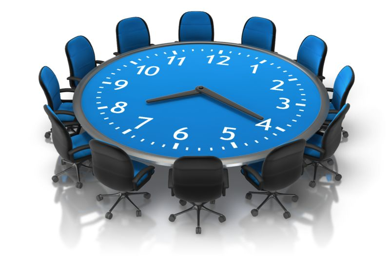 Clipart - Meeting Time Table