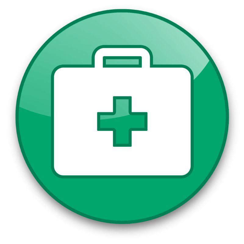 Clipart - Medical Briefcase Button