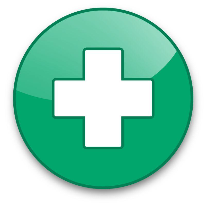 Clipart - Medical Cross Button