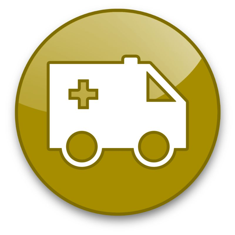 Clipart - Ambulance Button