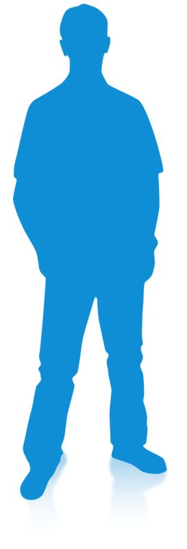 Clipart - Man Silhouette Single Pose
