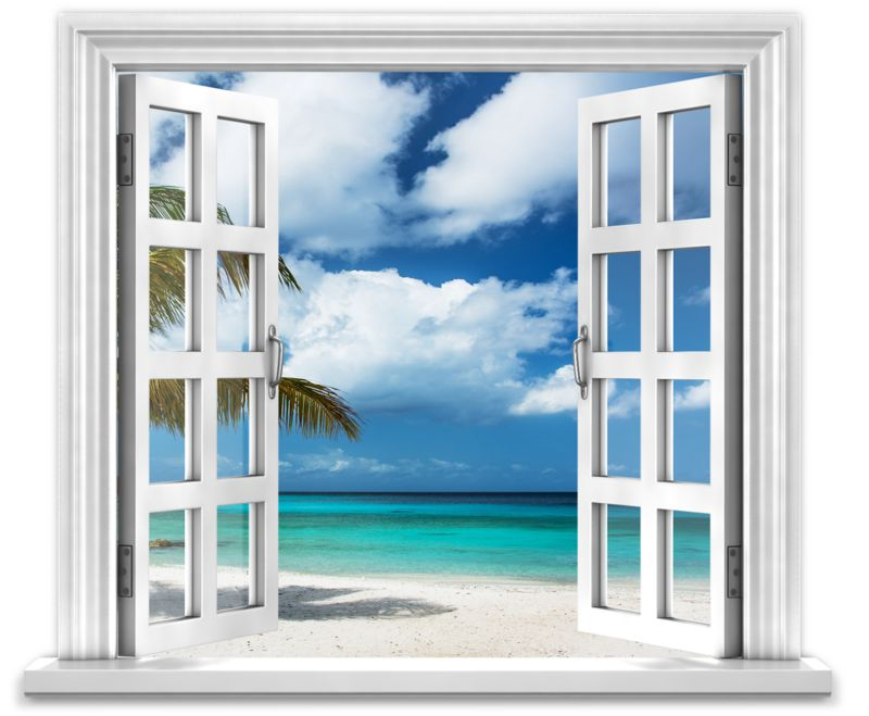 Clipart - Open Window To Ocean Paradise