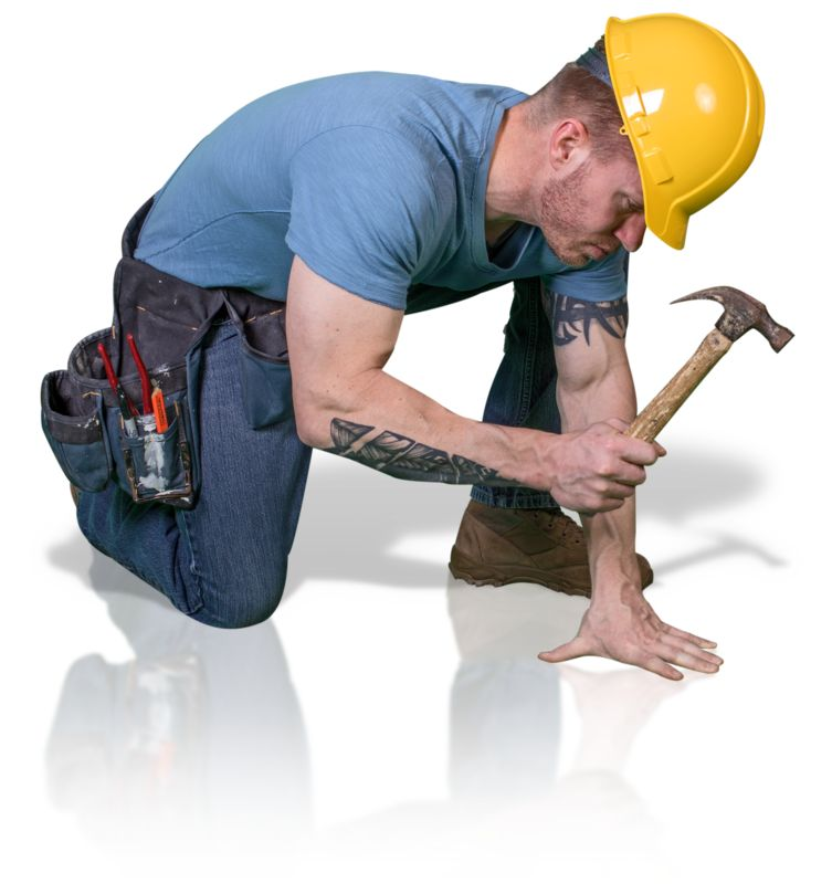 Clipart - Construction Man Hammer Down