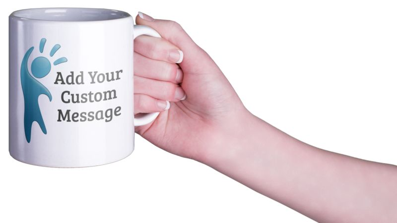 This Presentation Clipart shows a preview of Woman Coffee Mug Custom
