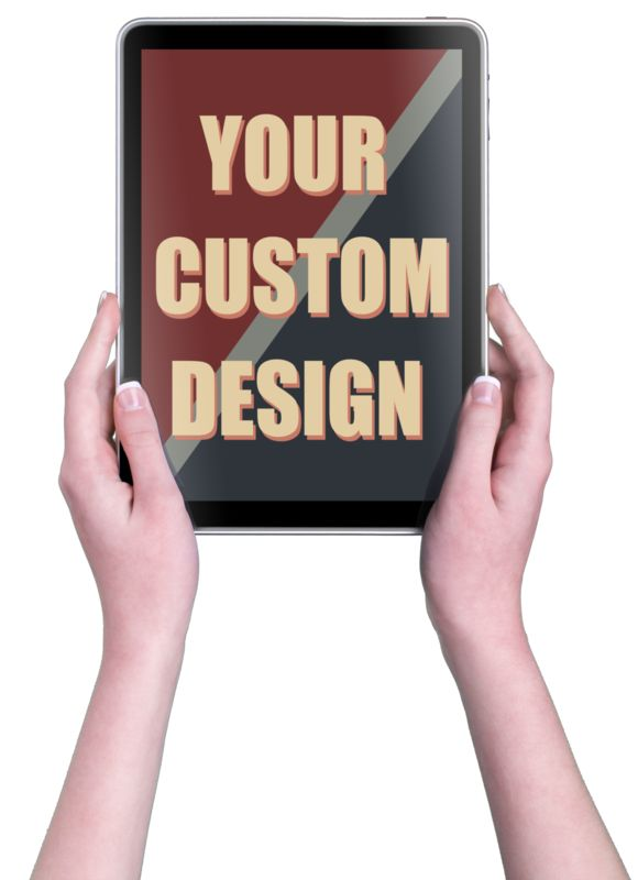 This Presentation Clipart shows a preview of Hands Touch Tablet Vert Female Custom