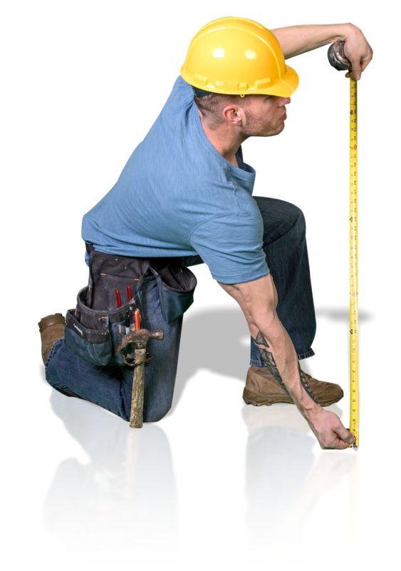 Clipart - Construction Man Measure Up