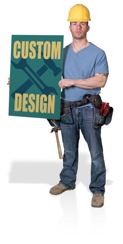 This Presentation Clipart shows a preview of Construction Hold Sign