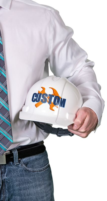 This Presentation Clipart shows a preview of Foreman Hard Hat Custom