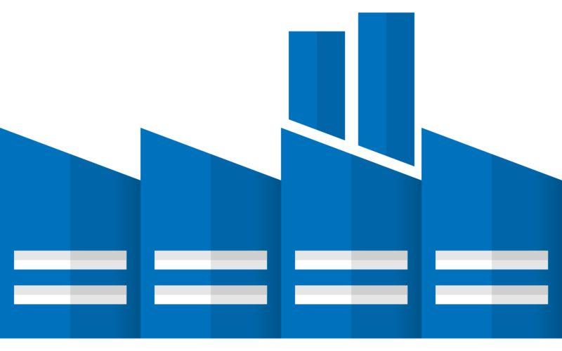 Clipart - City Factory Building