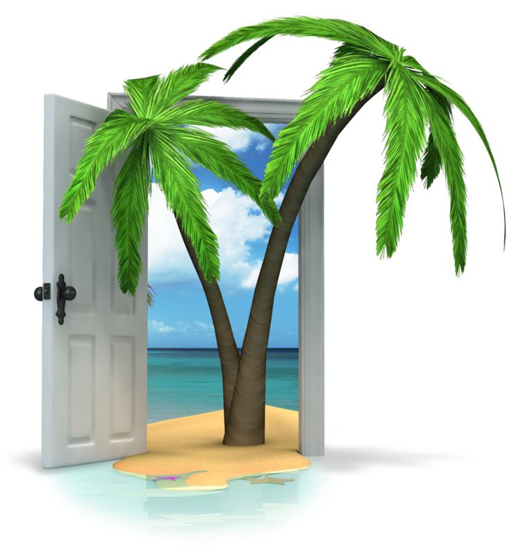 Clipart - Door To Paradise