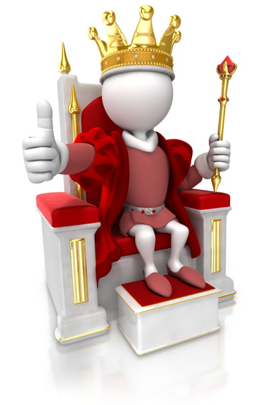 Clipart - King Give Thumbs Up