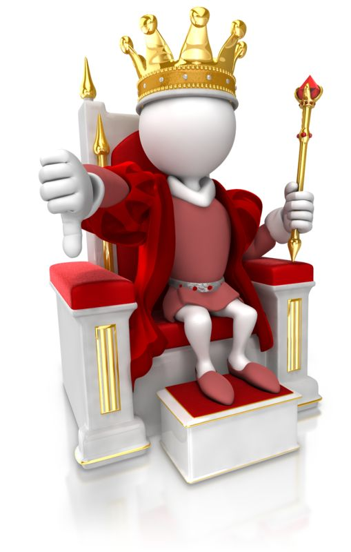Clipart - King Give Thumbs Down