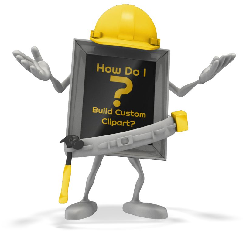 This Presentation Clipart shows a preview of Carpenter Question