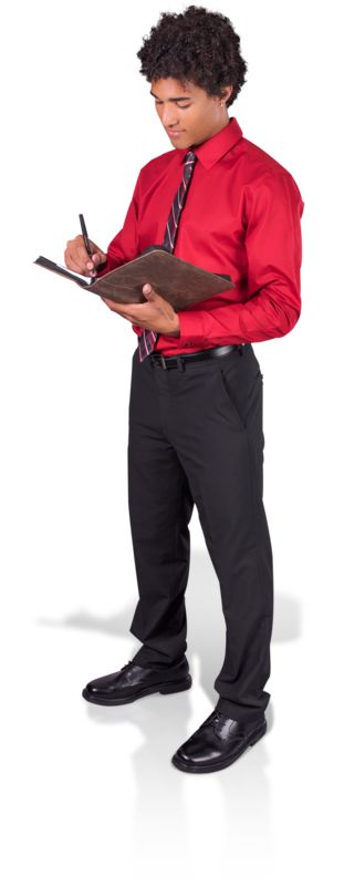 Clipart - Young Man Taking Notes