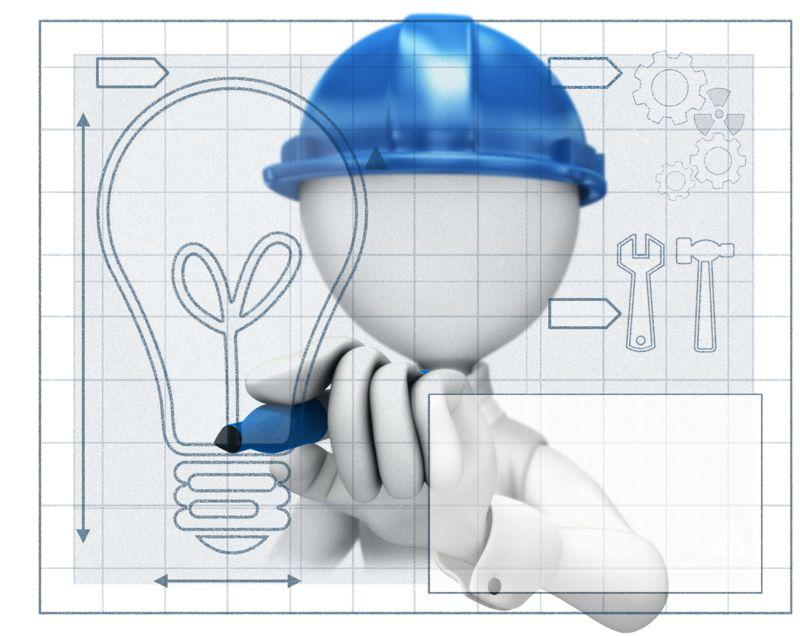 Clipart - Figure Drawing Idea Blueprint