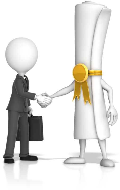 Clipart - Document Handshake with Business Figure