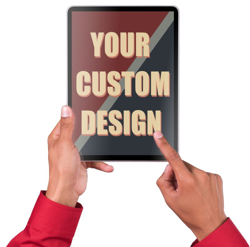 Put your own custom message and images on this touchscreen tablet.