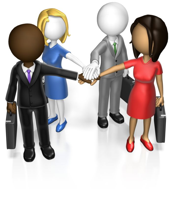 This Presentation Clipart shows a preview of Business Team Huddle Custom