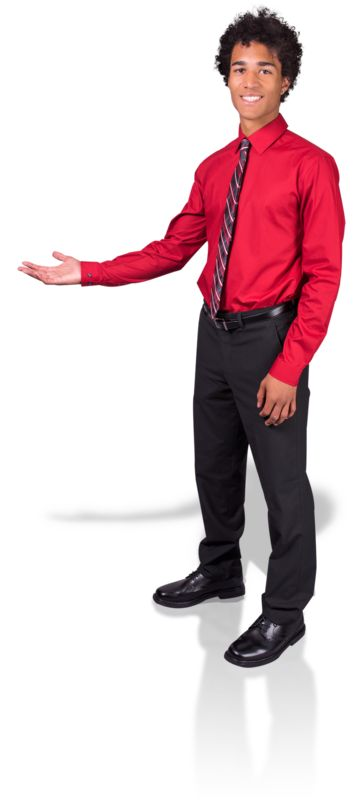 Clipart - Young Man Gesture Side