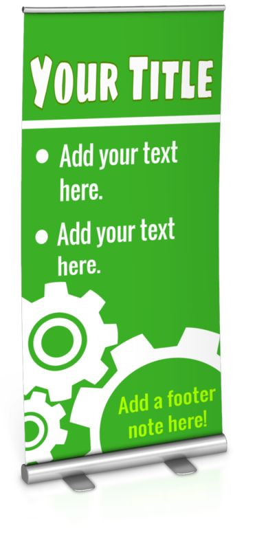 This Presentation Clipart shows a preview of Single Custom Roller Banner