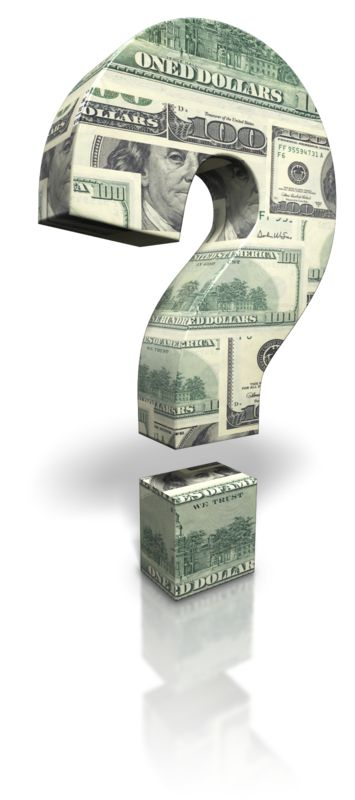 Clipart - US Money Question Mark