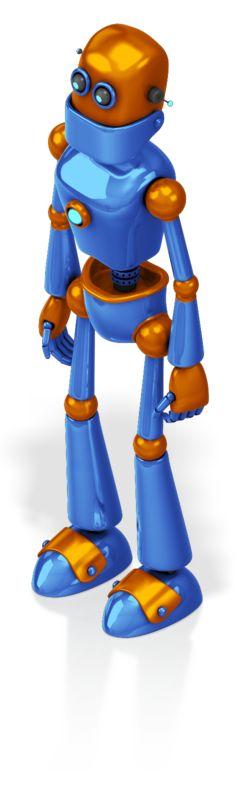 This Presentation Clipart shows a preview of Retro Robot Custom