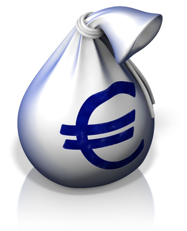 Clipart - Euro Money Bag