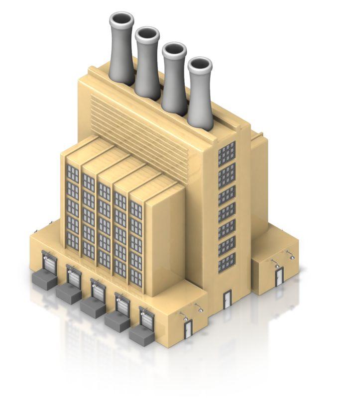 Clipart - Factory Building
