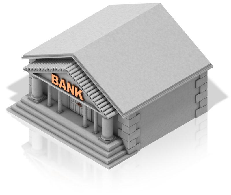 Clipart - Bank Building