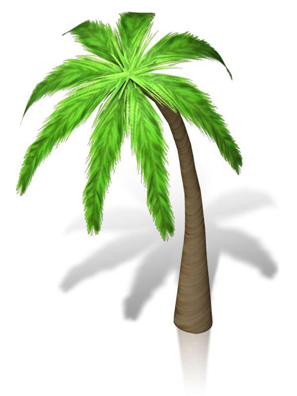 Clipart - Palm Tree Isometric