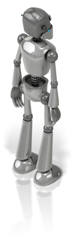 Clipart - Retro Robot Back