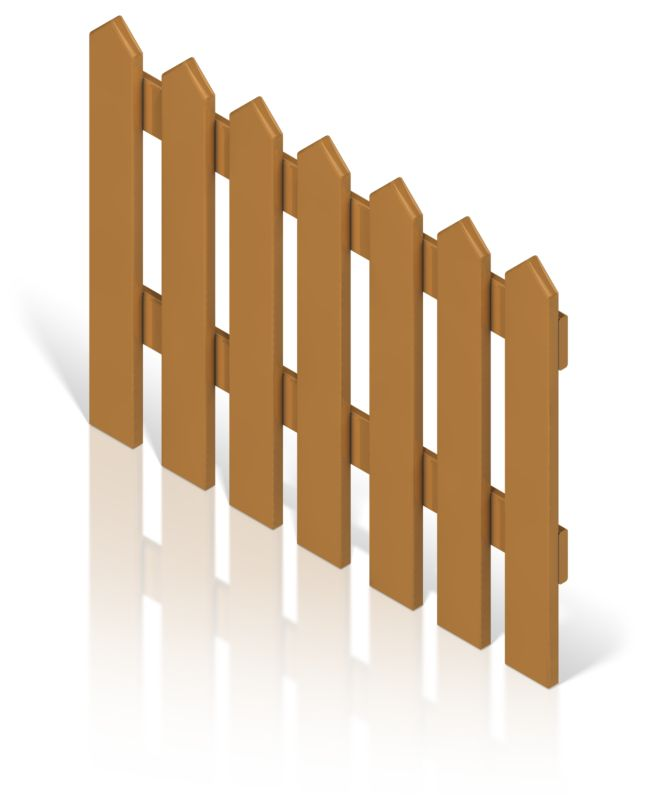 Clipart - Picket Fence Color