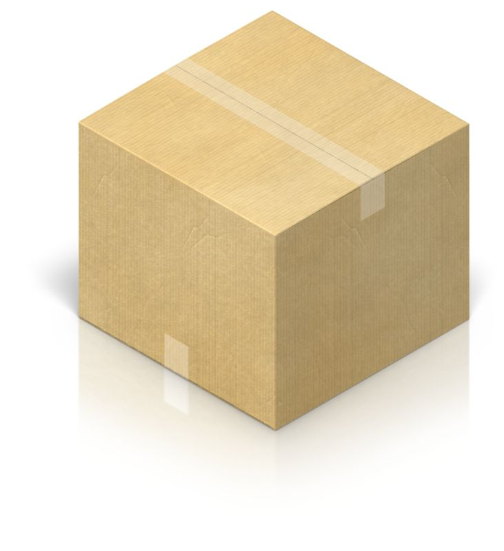 Clipart - Shipping Box Closed