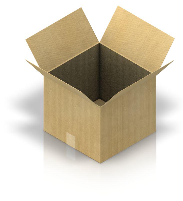 Clipart - Shipping Box Open